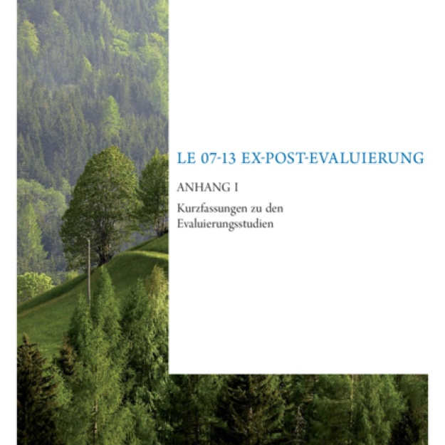 Evaluierungsbericht 2016 Ex-post Evaluierung LE 07-13 Anhang I